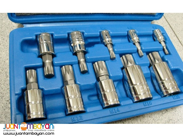 Neiko 10056A 10-piece XZN Triple Square Spline Bit Socket Set