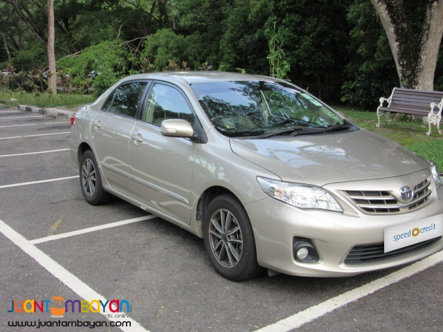 rent a car 'Toyota Altis'