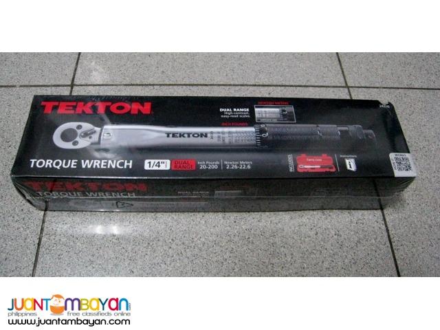 Tekton 24320 1/4-inch Drive Click Torque Wrench, 20-200-Inch/Pound