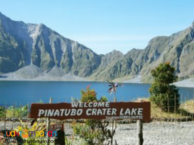 Mt Pinatubo Tour, offers a majestic vista of the crater-lake