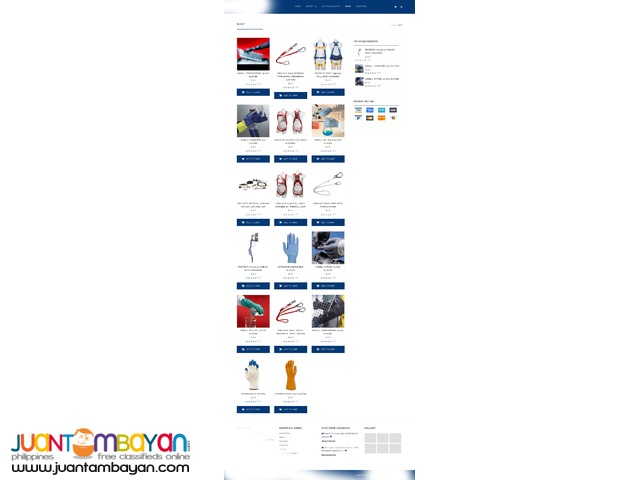 CMS web site, with online shop..