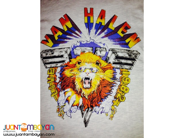 VAN HALEN - 1982 Lion Tour Long Sleeve (UNISEX) Tee
