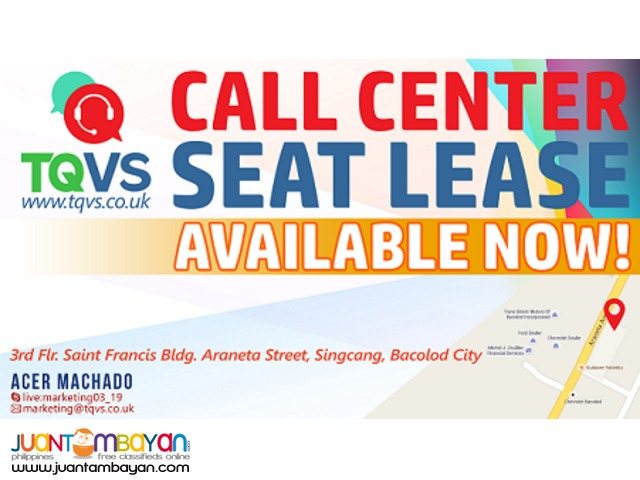 REDUCE YOUR COST! LEASE YOUR SEATS TODAY WITH TQVS!