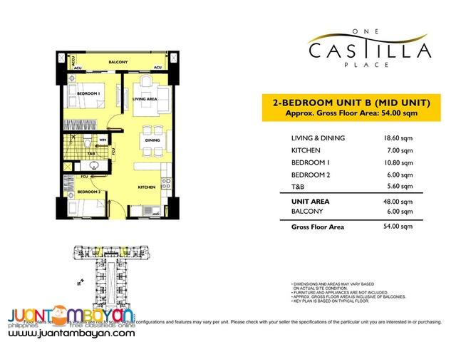 1, 2 & 3 BR Gilmore San Juan Condo Quezon City One Castilla Place