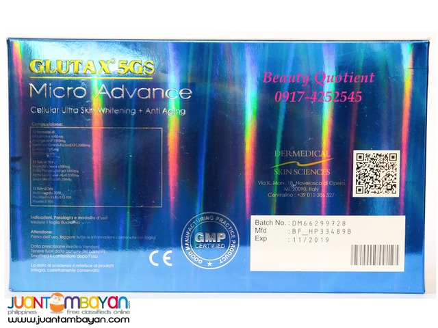 GLUTAX 5GS MICRO ADVANCE Injectable Glutathione IV