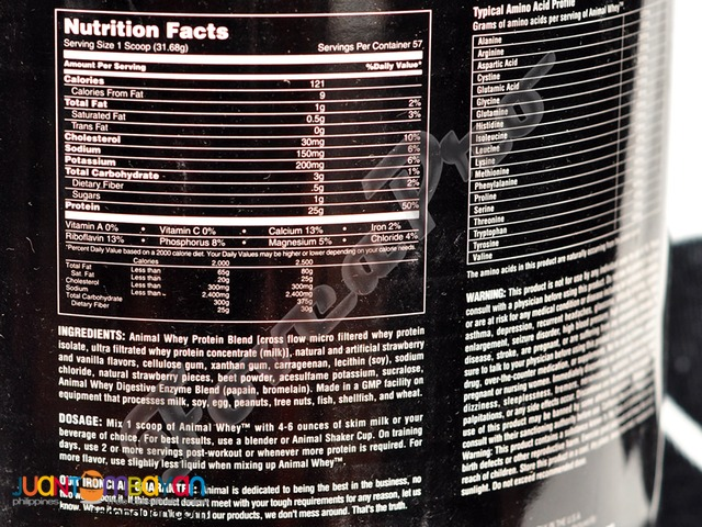 UN Animal Whey, 4lbs.Strawberry (25g Protein with Fiber)
