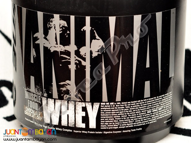 Universal Nutrition Animal Whey, 4lbs. Chocolate Chip (25g Protein)
