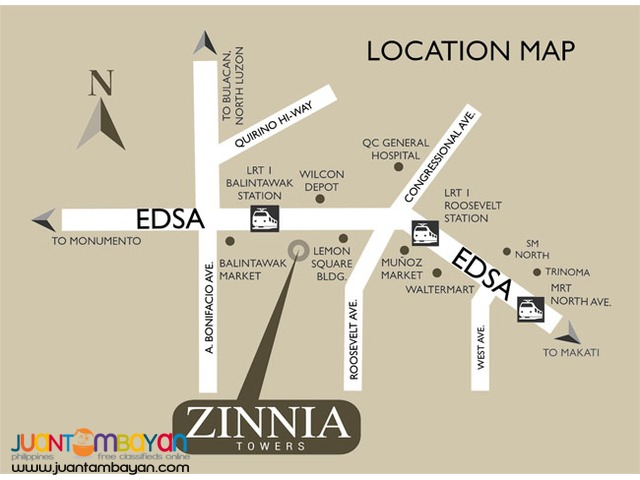 Zinnia Towers DMCI Homes Affordable Condo in Quezon City along Edsa