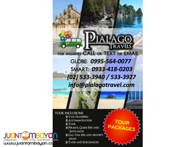 Pialago Travel Tour Package