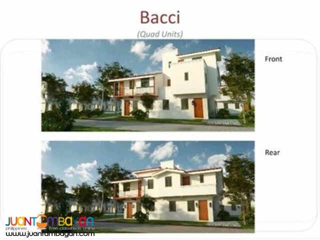 Bacci, Quad units, available in Pag-ibig Financing