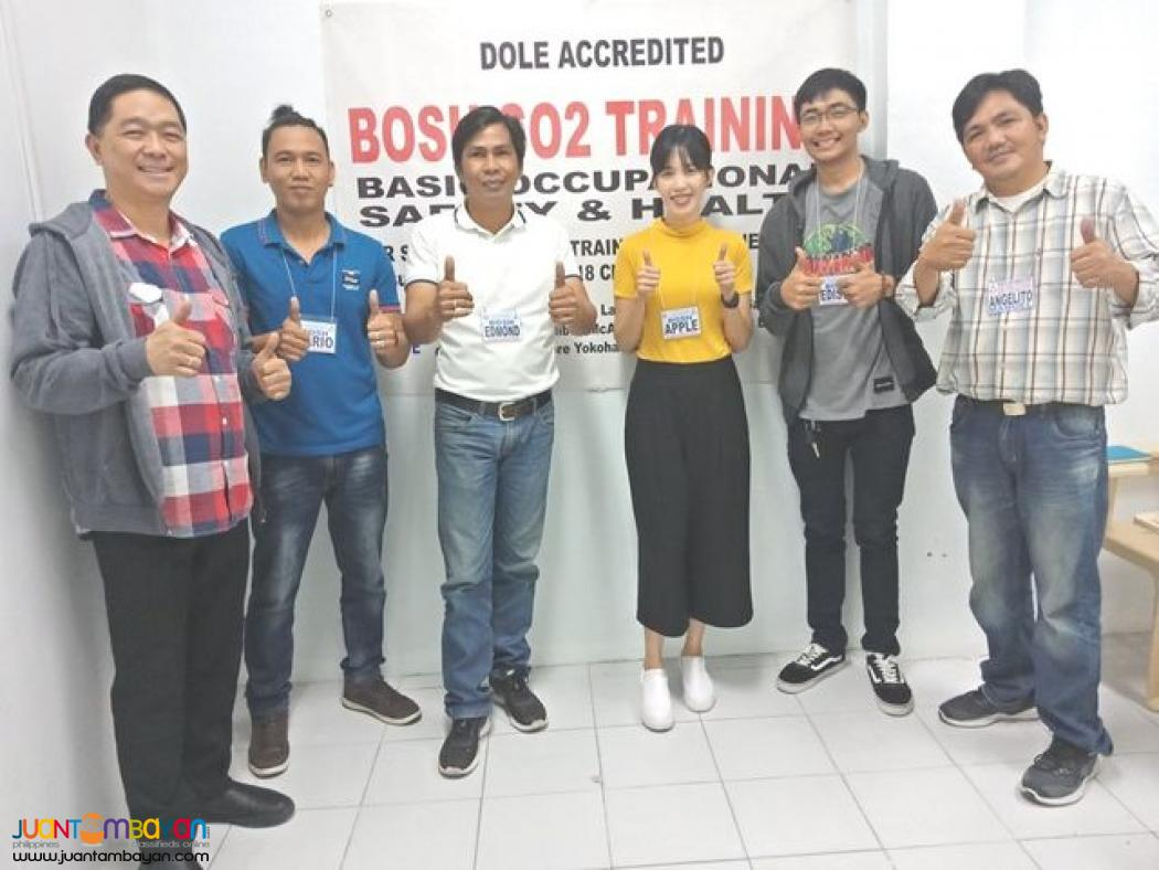 Online Bosh Training Pampanga Dole Accredited So2 Safety Officer 2