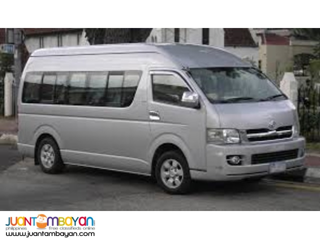 Toyota Hiace GL For Rent