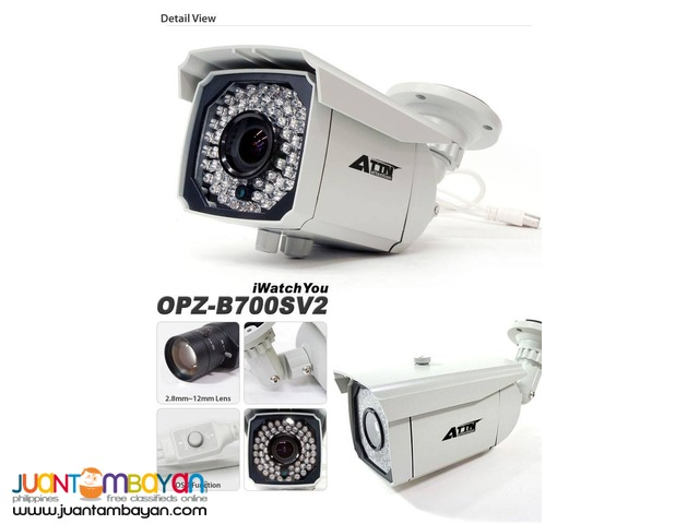CCTV IR Weatherproof Bullet Camera OPZ-B700SV2 2.8-12mm