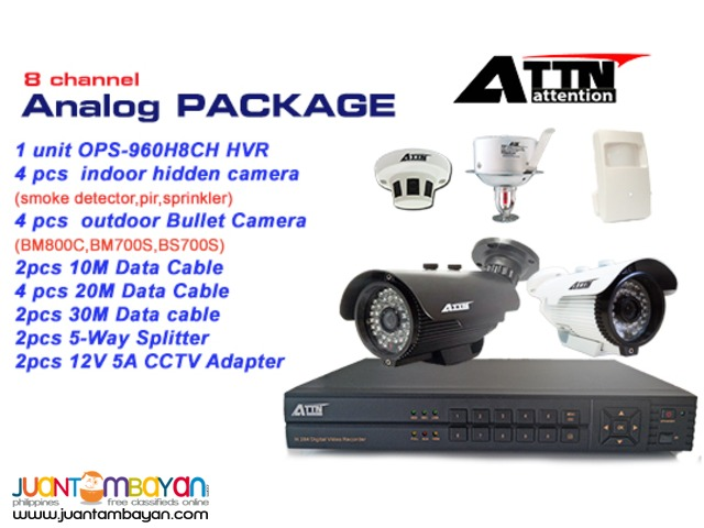 CCTV Analog 8channel Package