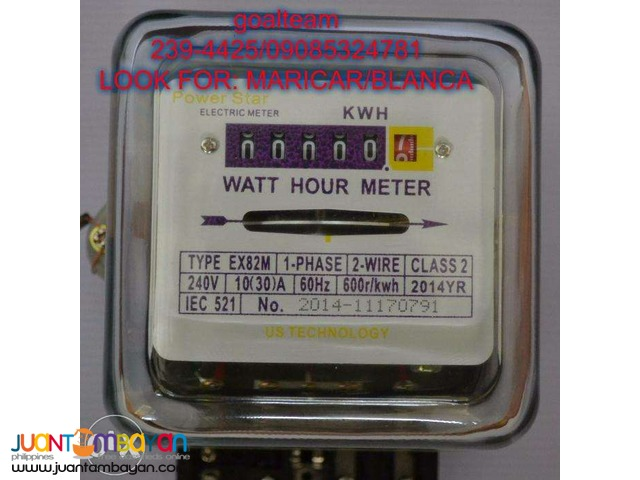 Electric Meter Analog 30Amp