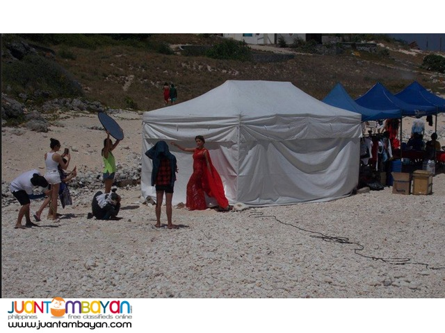 Beach side Open & Close Tents with portable aircon inside