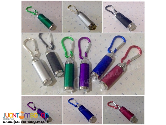 Mini LED Flashlight with Carabiner Keychain