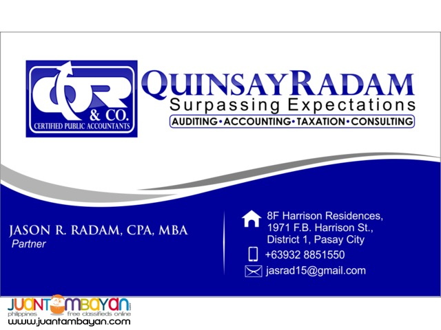Auditing, FS Signing, Accounting, Tax, Consulting