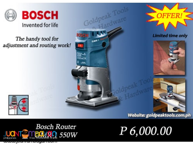 Bosch GMR 1 Palm Type Wood Router - Trimmer