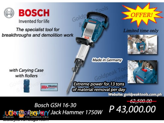 Bosch GSH 16-30 Demolition - Jack Hammer