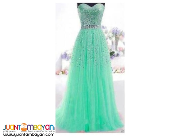 A-Line Sweetheart Long Dress with Sequins