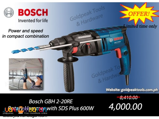 Bosch GBH 2-20 RE SDS Plus Rotary Hammer