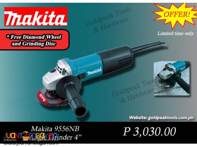 Makita 9556NB Angle Grinder with Diamond Disc