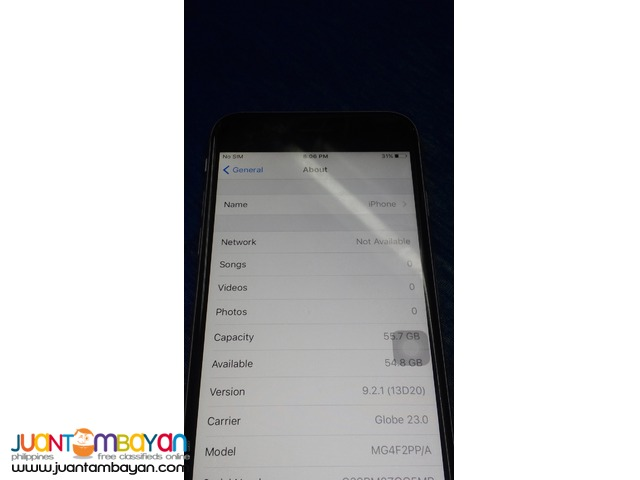 Apple iphone 6 complete 64gb space grey factory unlock