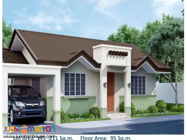 House Single Detached as low as P34,175k monthly amort in Talisay