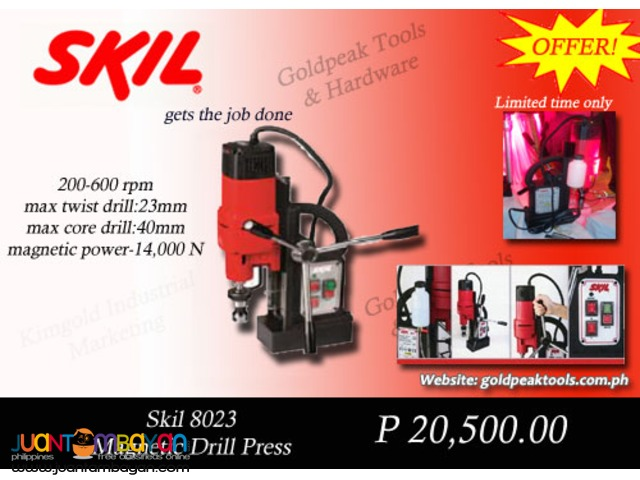 Skil 8023 Magnetic Drill Press | Beam Puncher