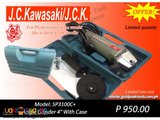 JC Kawasaki SP3100C+ Angle Grinder With Carrying Case