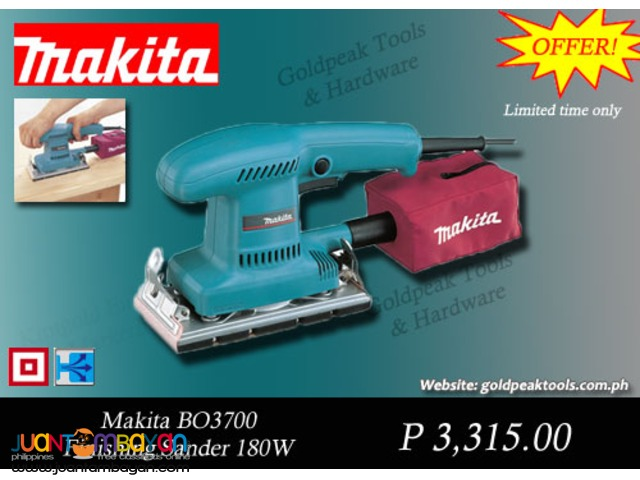 Makita BO3700 Finishing Sander with Dust Extraction