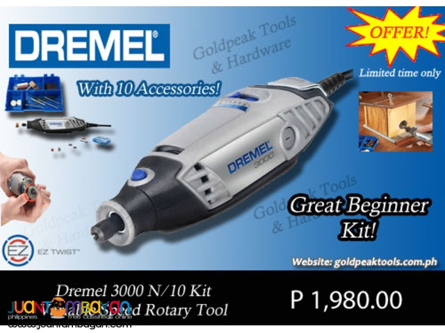 Dremel 3000 N.10 High Speed Rotary Tool Starter Kit