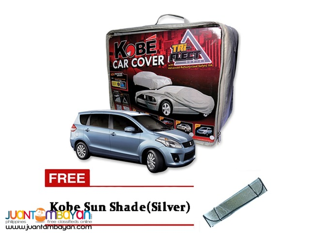 Kobe Car Cover for AUV with Free Sun Shade Silver