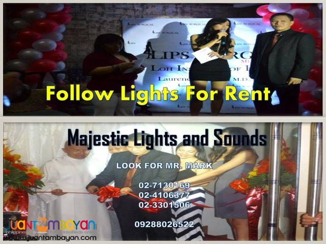 Follow Spotlight For Rent (150 watts)