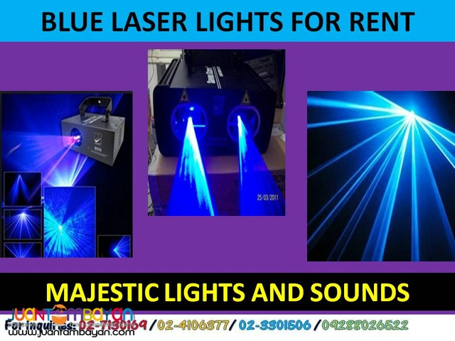 Blue Laser Lights For Rent