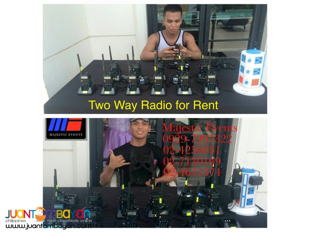 Two- Way Radio With Headset For Rent
