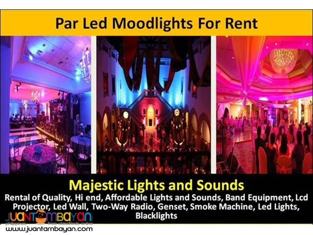 Par64 Led Rgb Spotlights/Stagelights/Moodlights For Rent