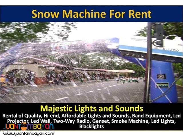 Snow Machine For Rent