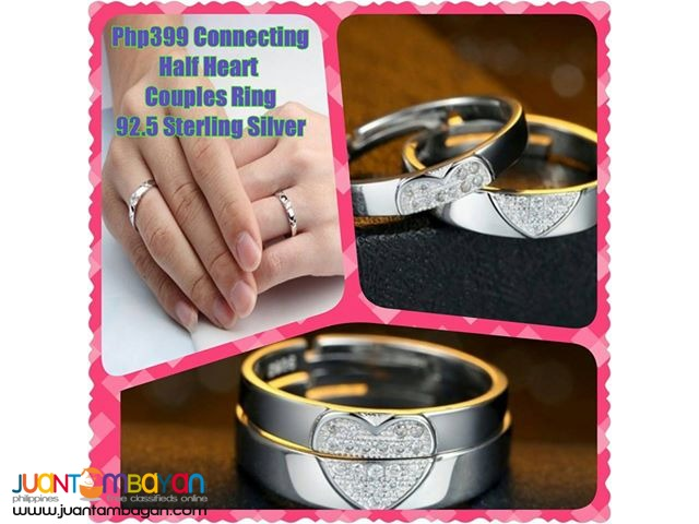 Connecting Half Heart Couples Ring