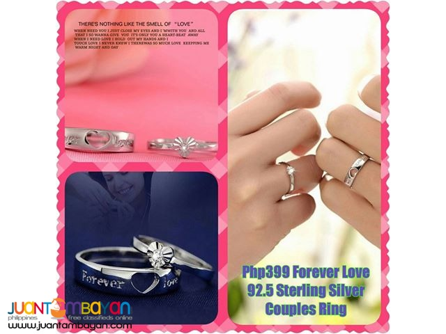 Forever Love  92.5 Sterling Silver Couples Ring