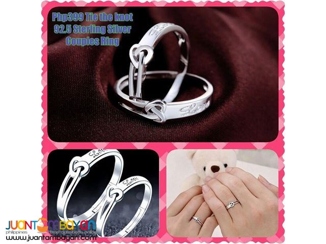 Tie the knot 92.5 Sterling Silver Couples Ring