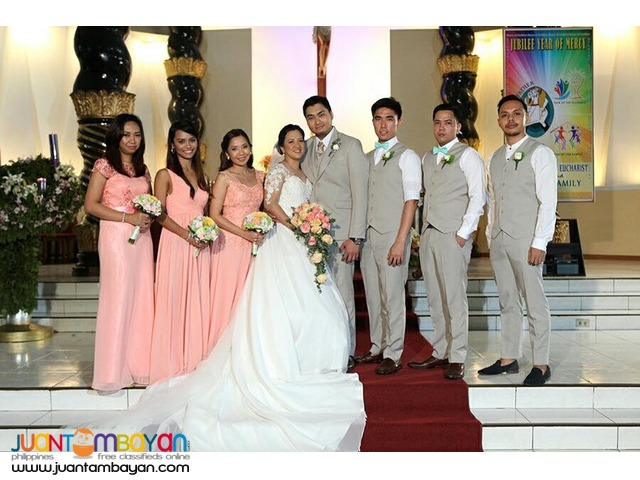Wedding gowns & tuxedo