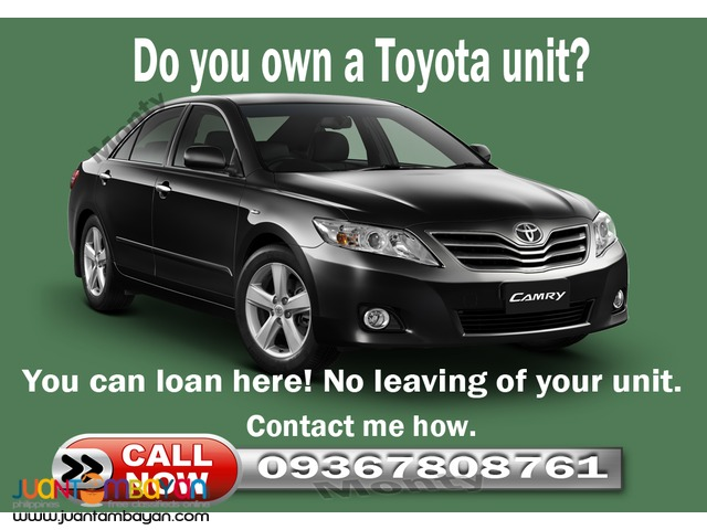 Toyota 2000-2015 Car loan OR CR only
