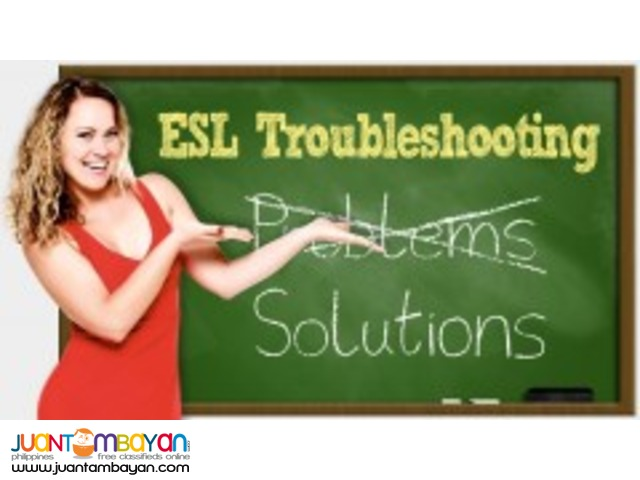 ESL Troubleshooting: Selected Topics in English Skills