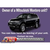 Owner of a Montero unit? You can car lend here OR CR only