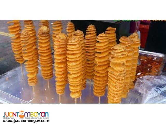 french fries, buko juice, buko shake, lugaw, kwek kwek,