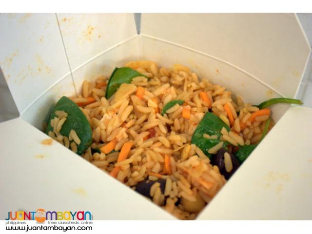 Rice toppings, rice box, buko juice buko shake, lugaw