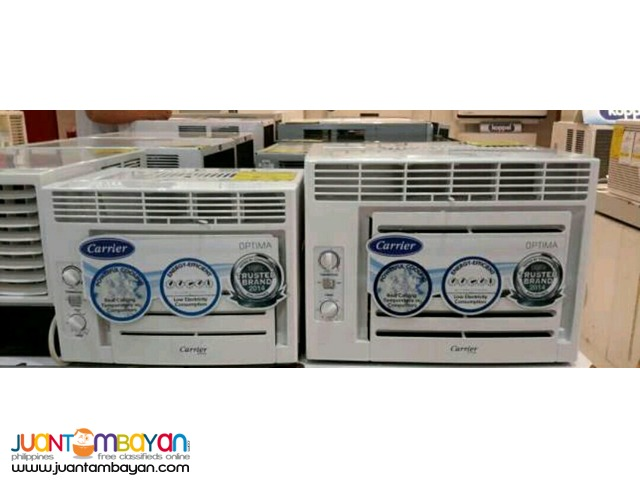 Brand new CARRIER window type aircon optima series
