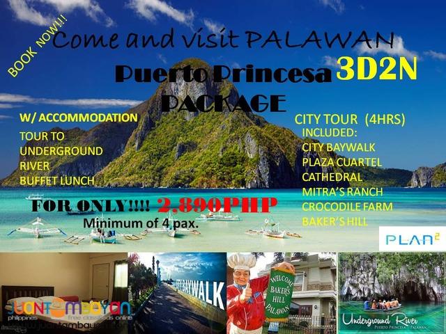 PALAWAN 3D2N PLAN2 TOUR BUDGET PROMO PACKAGE AS LOW AS 2,890!!